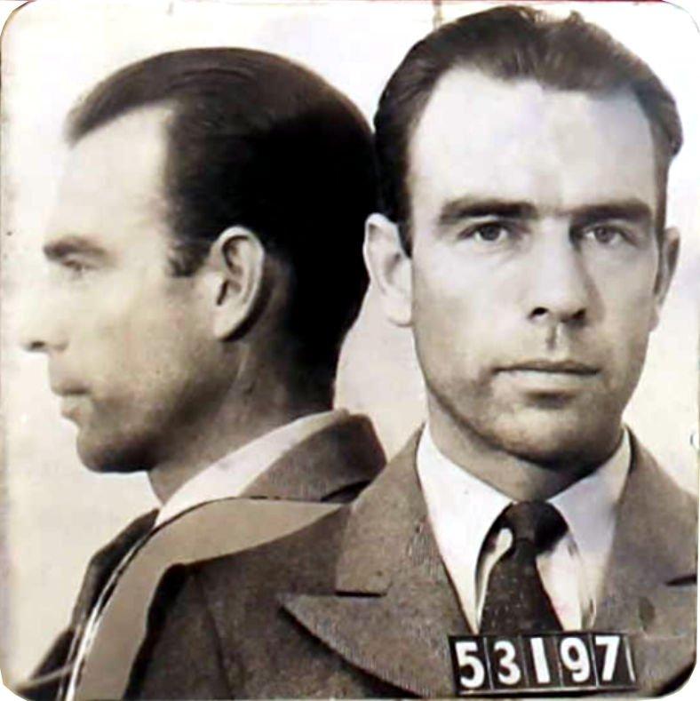Photograph of Elliott B. Thomas taken at San Quentin prison.