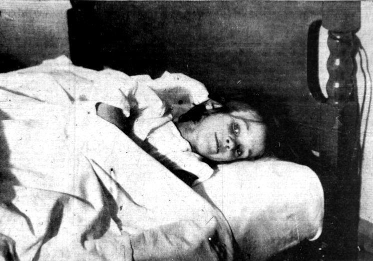 The first picture of Pamela Hollingworth after her rescue.