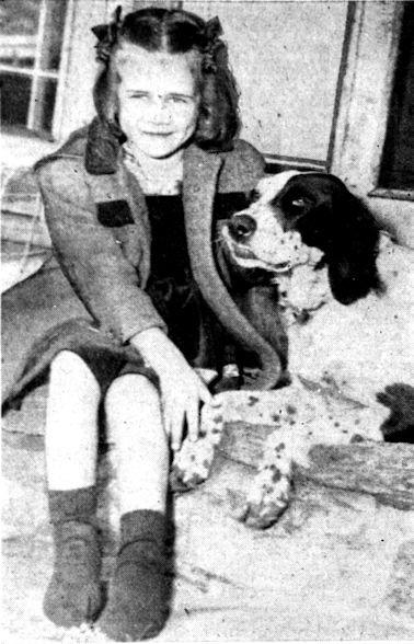 Pamela Hollingworth back home with her dog Shag.