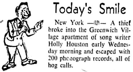 200 hog call records were stolen in 1952.