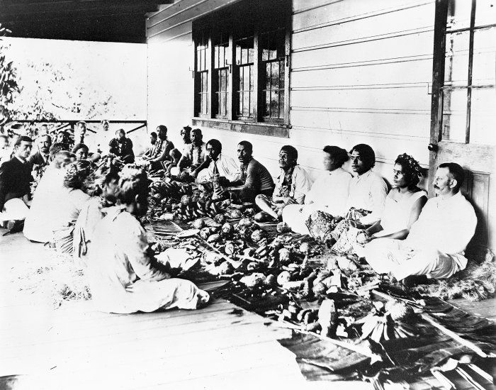 Feast at Home of Robert Louis Stevenson