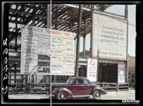 Political signs. Vincennes, Indiana colorized