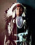 Chief Joseph, Nez Percé chief, in traditional dress
