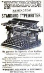 Remington Typewriter Ad, Popular Science Monthly, April 1888