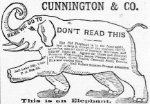 Cunnington Groceries Hardware Miners Supplies, Salt Lake Herald, February 20, 1891, page 6.