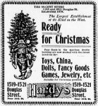 Hardy's 99 Cent Store, Omaha Daily Bee, November 27, 1898, page 24.