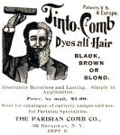 Parisian Tinto-Comb Hair Dye Ad, Black Cat Magazine, December 1899 page XXXIV.