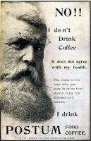 Postum Food Coffee Ad, Black Cat Magazine, December 1899, page xix.
