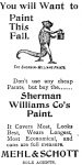 Sherwin Williams Paint Ad, Leavenworth Times, October 12, 1900, page 6.