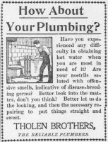 Tholen Brothers Plumbing Ad