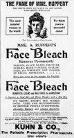 Mme A. Ruppert's Face Bleach Ad