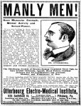 Manly Men Otterbourg Electro-Medical Institute, Pittsburg Press , June 25, 1902, page 4.