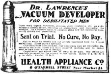 Dr. Lawrence' s Vacuum Developer for Debilitated Men, San Francisco Call. January 4, 1903, page 30.