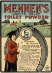 Mennen's Borated Talcum Toilet Powder Ad, Boston Sunday Post Sunday Magazine, August 20, 1905 page 20.