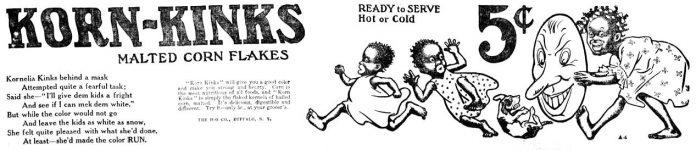 Korn-Kinks Malted Corn Flakes, Harrisburg Telegraph, March 7, 1907, page 5.