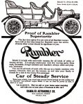 Rambler Automobile, Omaha Daily Bee, August 2, 1908, page 3.