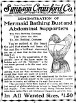 Mermaid Bathing Bust and Abdominal Supporters, Evening World, May 26, 1908, page 9.