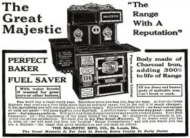Majestic Stove Ad, Cosmopolitan, October 1908, page 217.