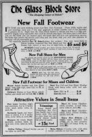Glass Block Store Shoes Ad