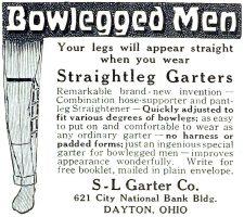 Bowlegged Straightleg Garter Ad, Photoplay, September 1918 page 121.