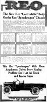 REO Speedwagon Convertible Ad, Harrisburg Telegraph, March 25, 1919, page 12.