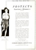 Protecto Rubber Sanitary Bloomers Ad, Dry Goods Economist, February 21, 1920, page 276.