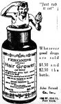 Feronds Hair Grower Ad, New York Daily News, January 3, 1921, page 3.