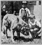 Image of Dick with two Silverman Children