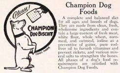 Champion Dog Foods ad
