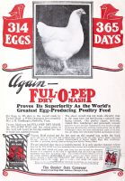 Ful-O-Pep Dry Mash for chickens ad, Everybody's Poultry, January 1929, page 2.