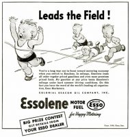 Essolene Gasoline Ad, The Crisis, August 1936 08, page 253.