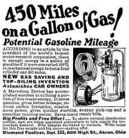 450 Miles on a Gallon of Gas - Diamond Fuelizer