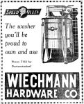 Speed Queen Washing Machine, Wausau Daily Herald, January 8, 1938, page 5.