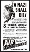 A Nazi Shall Die!, Air Adventures, Popular Aviation, December 1939, page 84.