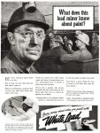 White Lead Paint Ad, Saturday Evening Post, August 5, 1939, page 83.