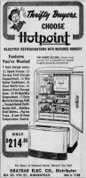 Hotpoint Refrigerators ad from the May 7, 1941 issue of the Minneapolis Star.