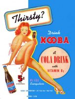 Kooba Cola Ad, Swank, August 1941, page 66.