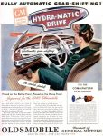Oldsmobile Hydra-Matic Drive Ad, Life, October 15, 1945, page 5.