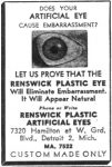 Renswick Artificial Plastic Eyes advertisement.