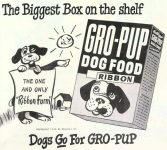 Ad for Kellogg's Gro-Pup Dog Food
