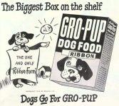 Ad for Kellogg's Gro-Pup Dog Food