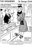 Election Day Absentee Ballot Comic, Deseret News, October 30, 1948, page A2.