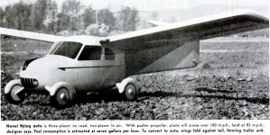Perhaps Joe Wardle's landing problems would have been solved if he had purchased one of these Aerocars.
