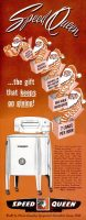 Speed Queen Washing Machine, Christmas Ad, November 28, 1949, page 56.
