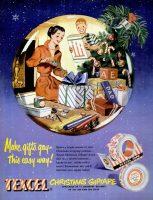 Texcel Christmas Giftape Ad, Life, November 28, 1949, page 68.
