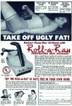 Roll-A-Ray Heat Massager Ad, Detective Book Magazine, Summer 1949.