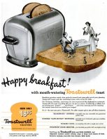 Toastswell Toasters Ad, Life, November 28, 1949, page 113.