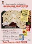 Husbands Beat Wives, Betty Crocker Cake Mixes Ad, Today's Woman, November 1949, page 160.