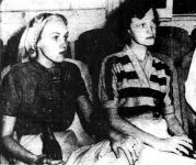 Betty Corrigan and Marie Orr in the Miami Police Station