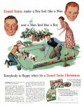 Lionel Trains, Christmas, Saturday Evening Post, November 24, 1951, page 120.